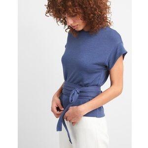 NWT Gap Blue Wrap Tee Shirt